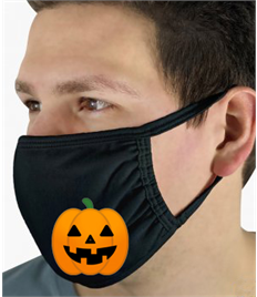Face Mask with Pumpkin print Pack of 5