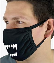 Face Mask with Teeth print Pack of 5